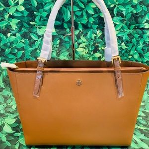TORY BURCH Emerson Leather Large Buckle Tote